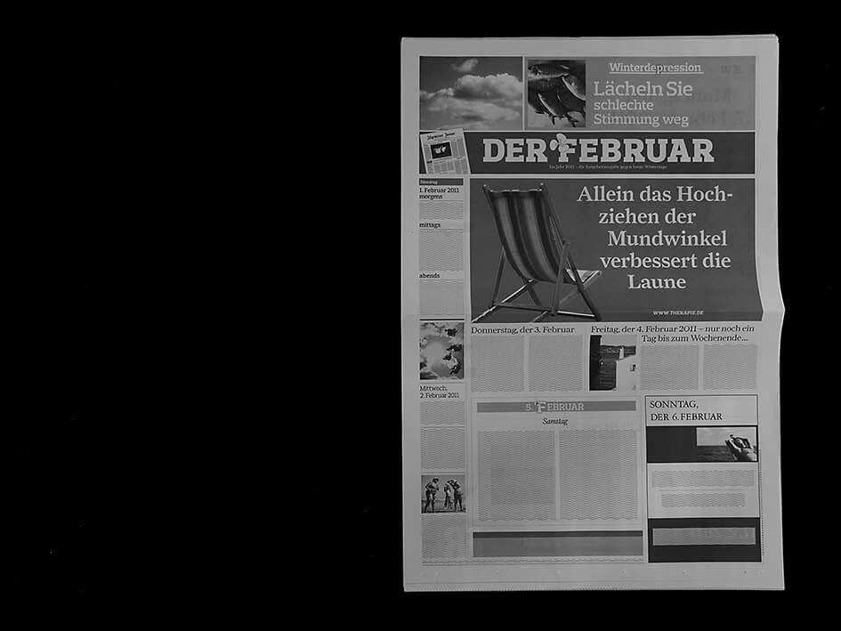 Februar Zeitungskalender
