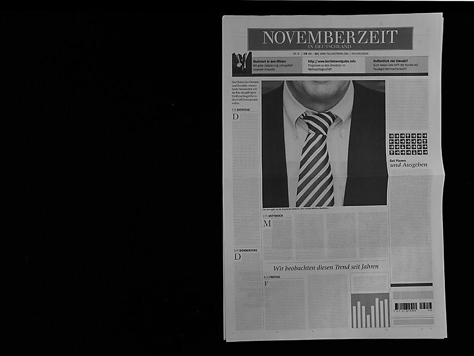 November Zeitungskalender